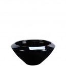bol en céramique « Nuno » D30cm, brillant-noir-bru